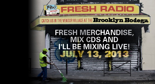 Join #freshradio @BkHipHopFest July 13, 2013