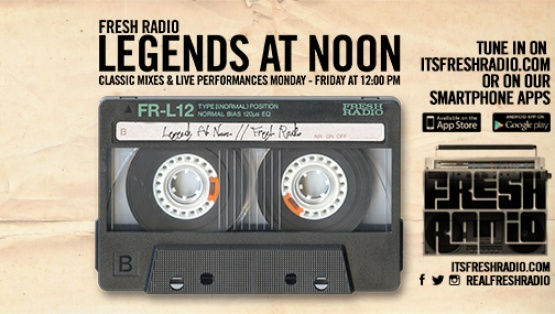 #LegendsAtNoon Weekdays at Noon EST only on #FreshRadio