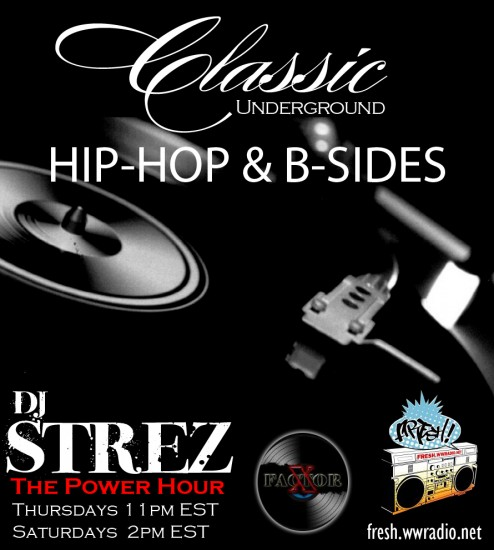 DJ Strez Power Hour Flyer (New for Fresh Radio Website)